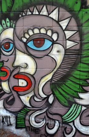 titled: Graffiti titled Kill The Eye in Sao Paulo Brazil