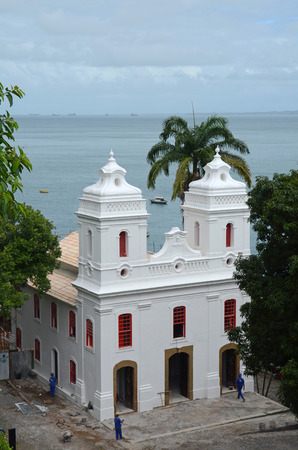 baixa: A former chapel is now part of the Museum of Modern Art in Salvador Bahia Brazil Editorial