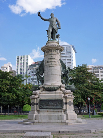 commanded: Monument of Francisco Manuel Barroso the Baron of Amazonas in Paris Park Praa Paris Rio de Janeiro Brazil. He commanded the Brazilian fleet during the Battle of Riachuelo in the Paraguayan War