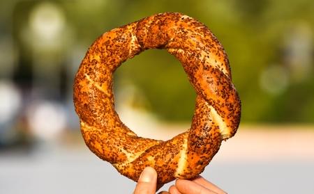 sesame street: Traditional Turkish Bagel Bakery, Turkish donuts, called in Turkish as Bagels