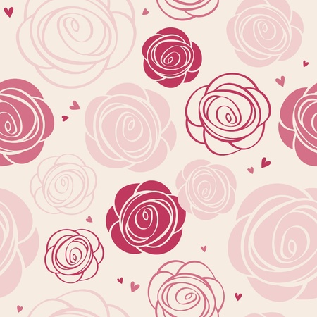 seamless roses pattern Stock Vector - 21975398