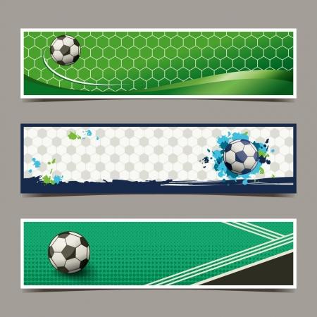 soccer goal: banner soccer design Illustration