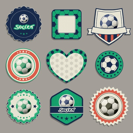 soccer labels Vector