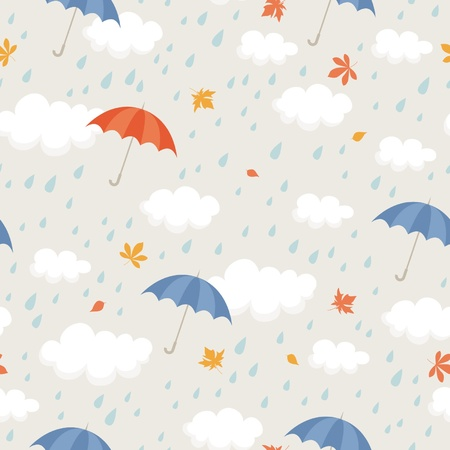 raining background: seamless pattern  Illustration