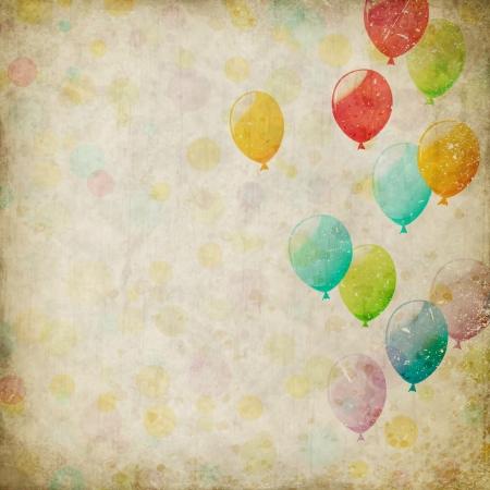 Grunge background con palloncini Archivio Fotografico - 22150680