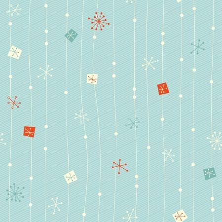 seamless vintage winter pattern 向量圖像