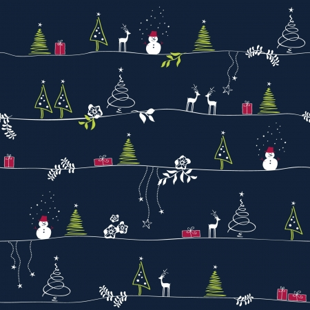 x mas card: seamless christmas pattern