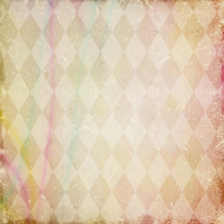 grunge background with harlequin pattern