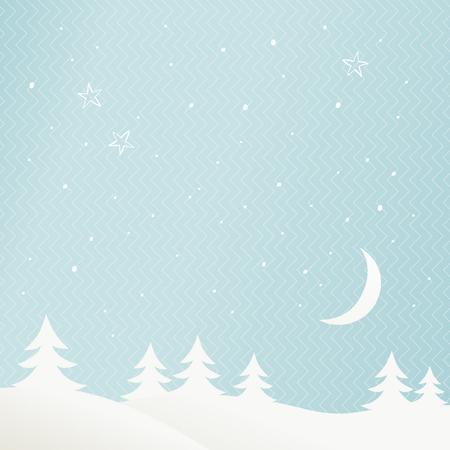 paysage hiver: paysage hivernal Illustration
