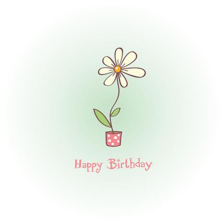 greeting card - happy birthday 向量圖像