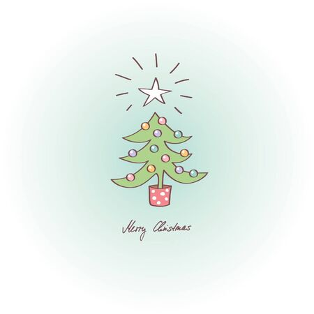 greeting card - merry christmas Vector