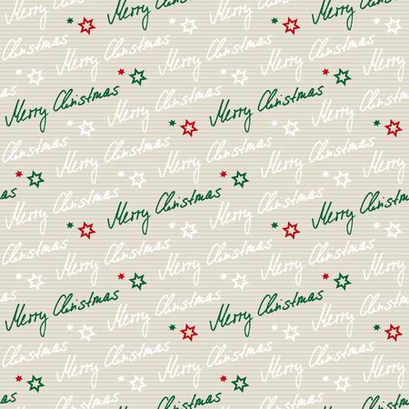 handwritten seamless christmas pattern Vector