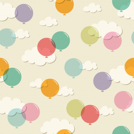 birthday party kids: seamless pattern with balloons