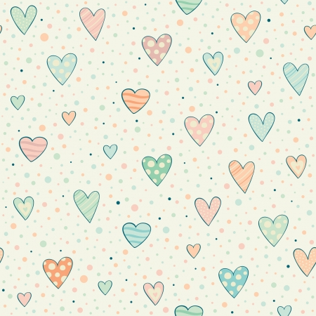 seamless pattern with hearts Stock Vector - 23917660