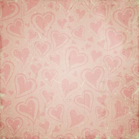 vintage background with hearts 版權商用圖片
