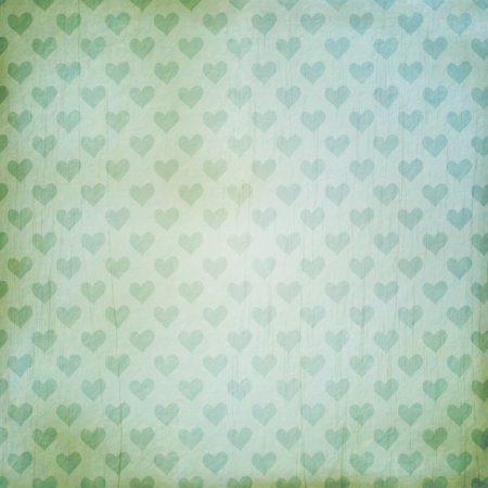 vintage background with hearts photo
