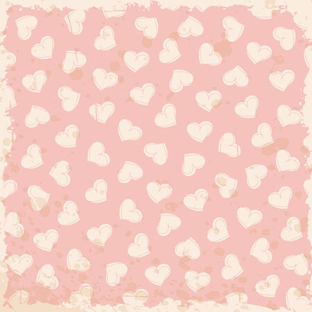 blotchy: grunge background with heart pattern