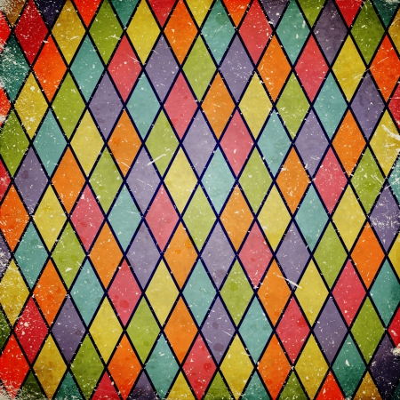 colorful grunge background with harlequin pattern