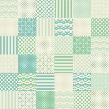 seamless patchwork background Vector