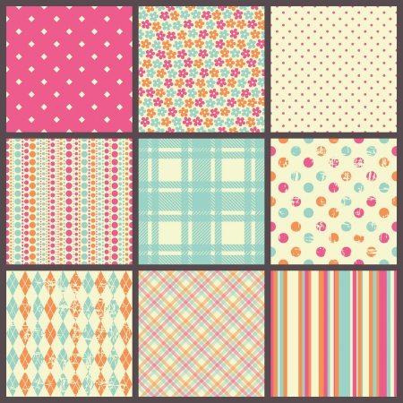 set of seamless patterns 版權商用圖片 - 25251719