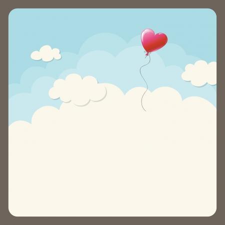 heart balloon in the sky 版權商用圖片 - 25251747