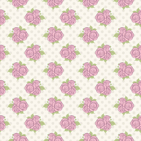 seamless roses pattern Stock Vector - 25280043