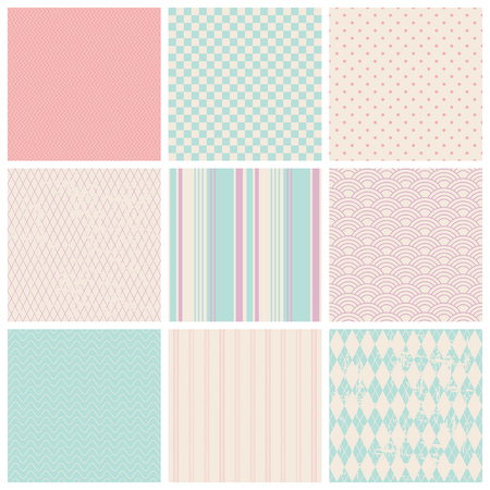 checked background: set of seamless patterns