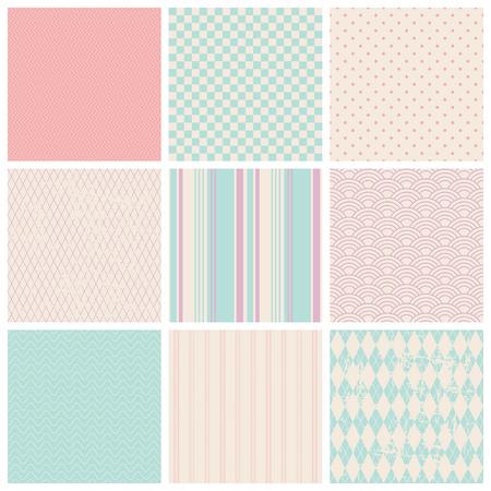 set of seamless patterns 版權商用圖片 - 25658132