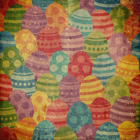 blotchy: grunge background with easter pattern Stock Photo