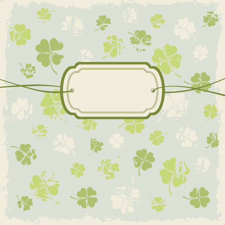 greeting card with clover leafs Vector