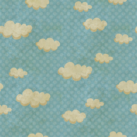 seamless pattern with clouds photo