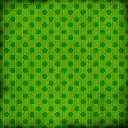 outworn: green grunge background with dots Stock Photo