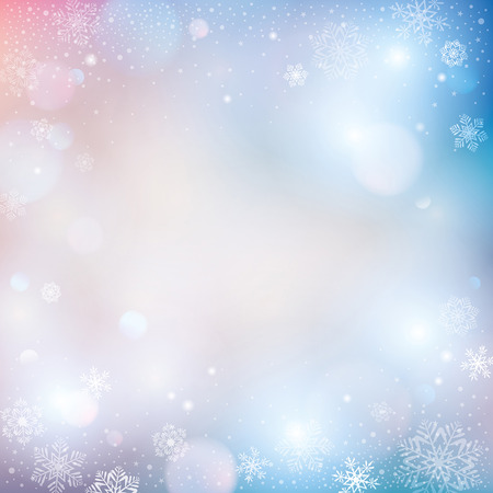 winter time: abstract winter background Illustration