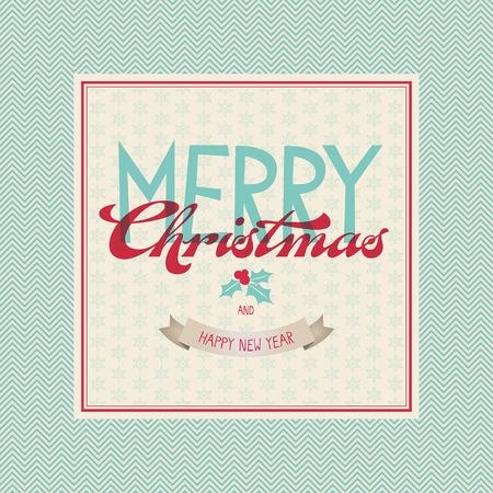 ilex: vintage christmas card Illustration
