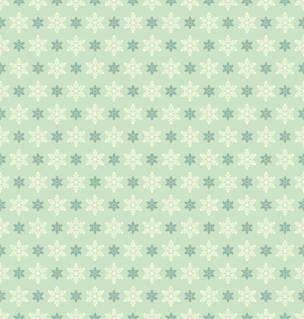 vintage seamless christmas pattern with snowflakes Vector