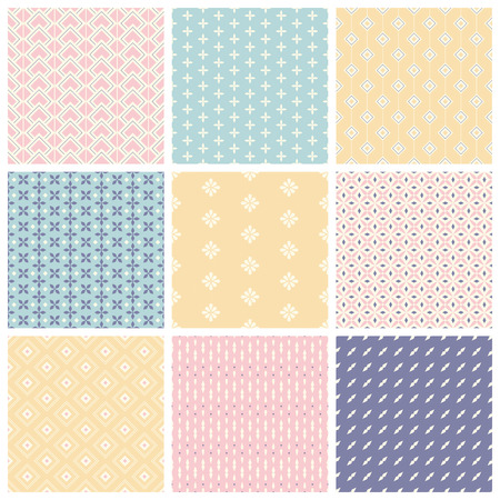 set of seamless patterns 版權商用圖片 - 37594474