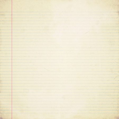 lined paper: old lined paper Stock Photo