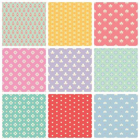 set of seamless patterns 版權商用圖片 - 40921342
