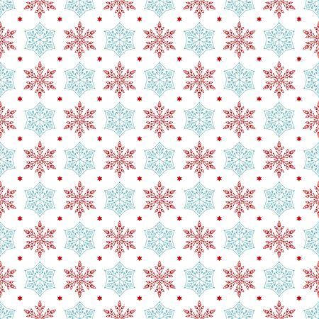 gift pattern: seamless snowflakes pattern