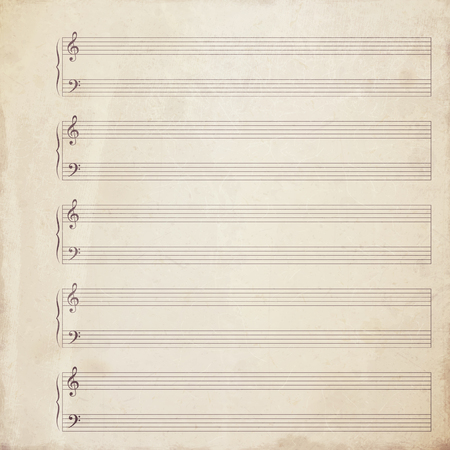retro music: notepaper background Stock Photo