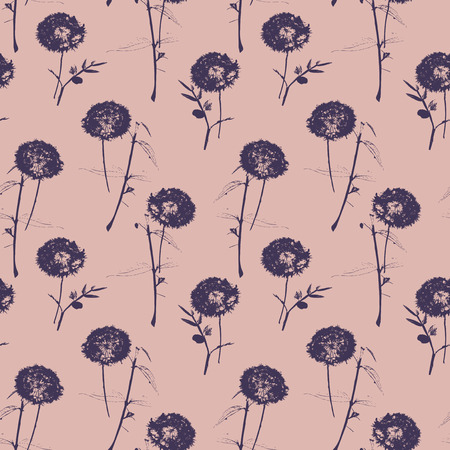 buzzer: seamless pattern with dandelions