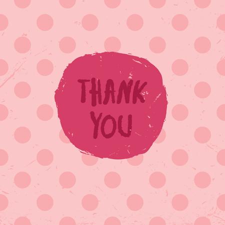rosas rosadas: Gracias Tarjeta Vectores