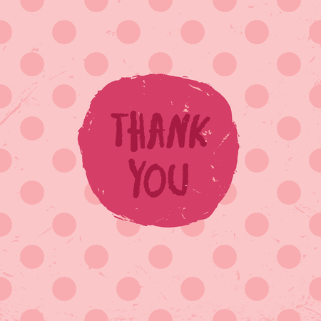 pink abstract: Thank You Card