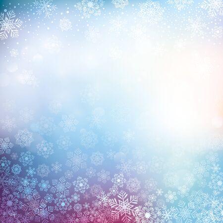 holiday season: Snowy winter background Illustration