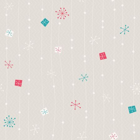 seamless vintage winter pattern Illustration