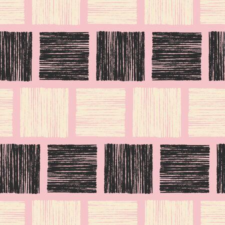 hand drawn abstract seamless pattern Illustration