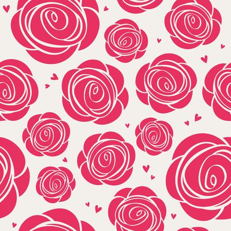 rose garden: seamless roses pattern