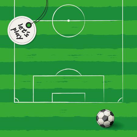 ballsport: soccer background Illustration