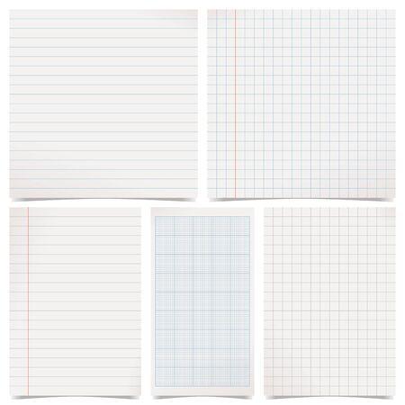 set of gray paper