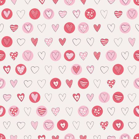seamless hearts pattern Vectores